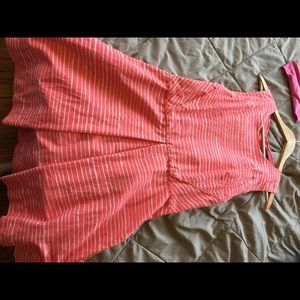 Adorable Pink Striped Gap Fit and Flare Dress